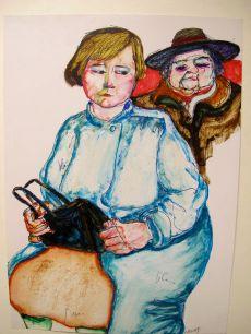Frau im blauen Mantel, 1985