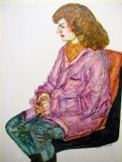 Frau mit pinker Jacke,1985