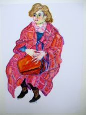 Frau mit roter Tasche, 1986