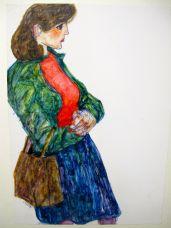 Frau mit Tasche, 1985
