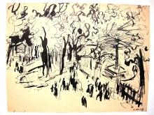 Im Park, 1938, Tuschezeichnung, 40 x 31 cm