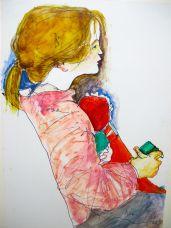 Mädchen mit Puppe,1987