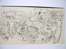 Theater, 1938, Federzeichnung, 36,5 x 21,5 cm
